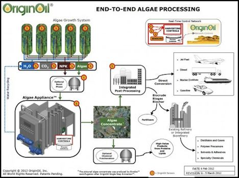 End to end algae processing – OriginOil