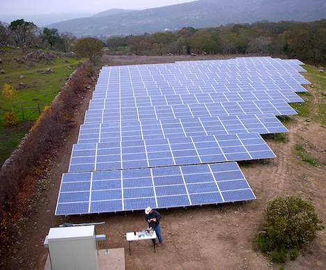 Solar power installation – Napa Valley