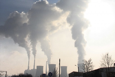 Coal-fired power plant emissions