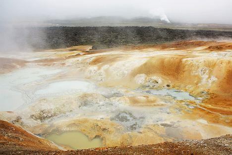 Geothermal mudpools in Iceland