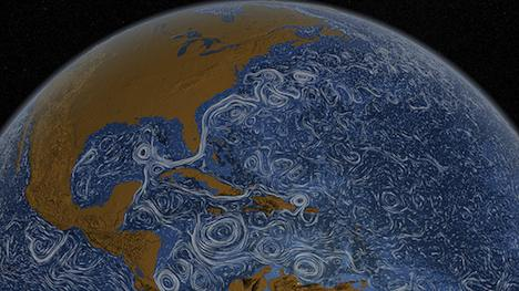 World's ocean currents visualization - NASA