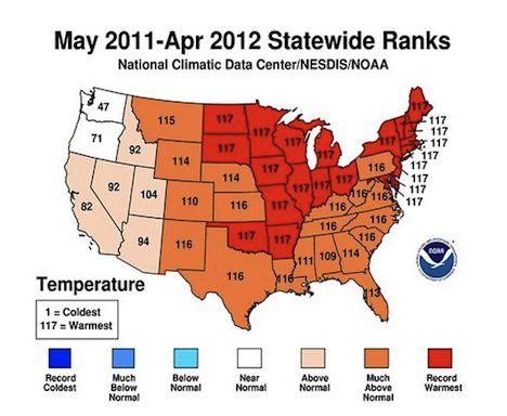 NOAA Statewide Ranks