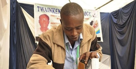 Anthony Mutua with Recharging Sneaker