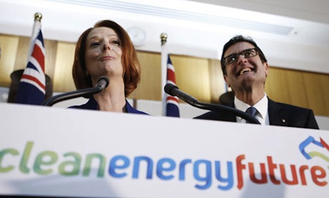 Julia Gillard and Greg Combet