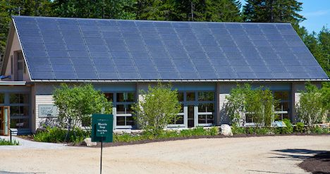 Rooftop solar panels - Coastal Maine Botanical Gardens