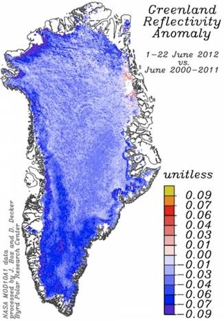 Greenland Reflectivity 2012