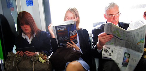 eReading on public transport