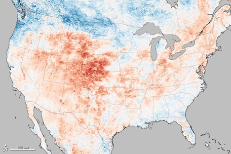 US heat wave map - June 2012