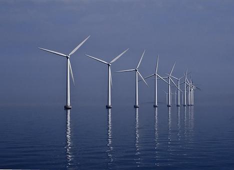 Offshore wind farm in Denmark