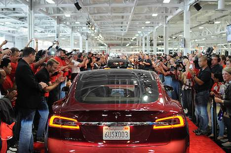 Tesla Model S launch event