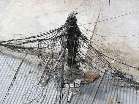 Power lines in Delhi