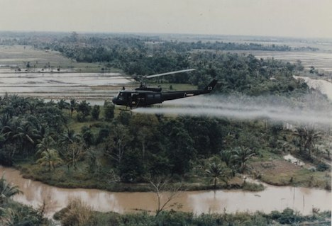 US military spraying Agent Orange in Vietnam