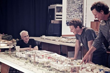 Mark Zuckerberg and Frank Gehry