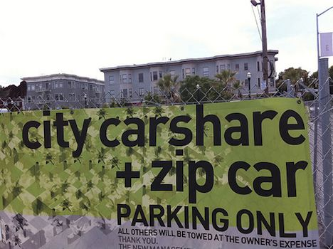City carshare sign