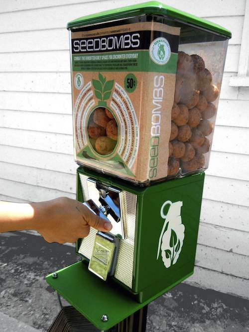 Greenaid seedbomb vending