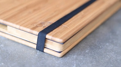 Wooden iPad case corner