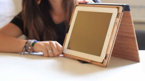Wooden iPad case - stand