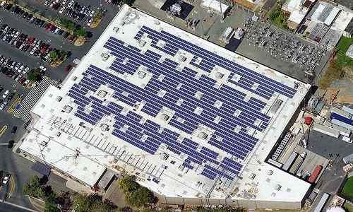 Walmart store solar installation