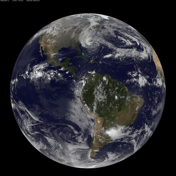 Hurricane Sandy - full Earth image