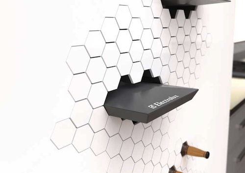 Impress refrigerator wall