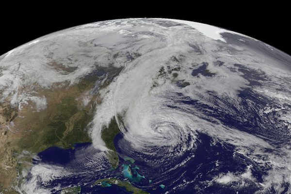 Hurricane Sandy NASA image