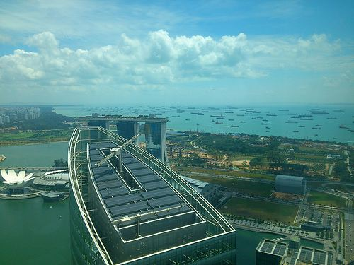 Rooftop solar panels in Signapore