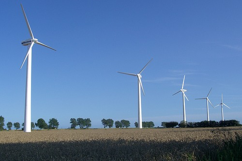 Wind farm, Norfolk, UK