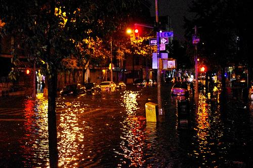 Hurricane Sandy flooding in New York