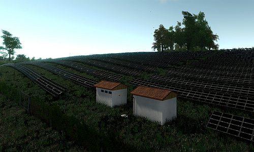 Solar power plant visualization