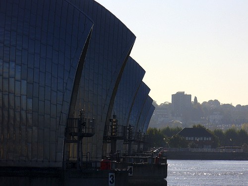 Thames River flood barrier