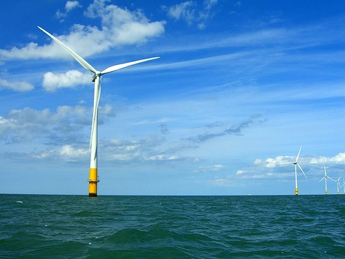 Wind farm in the Thames Estuary