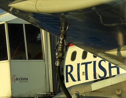 British Airways jet refuelling