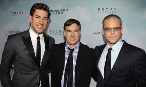 John Krasinski, director Gus Van Sant, and Matt Damon