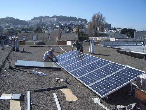 Installing rooftop solar panels