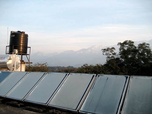 Solar hot water system - India