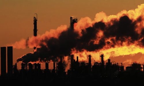Greenhouse gas emissions from industry