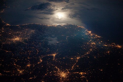 France at night