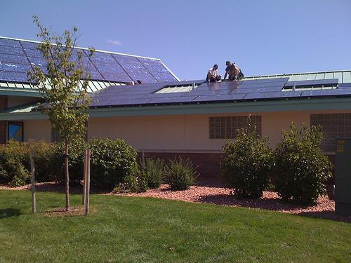 Rooftop solar panels in Colorado