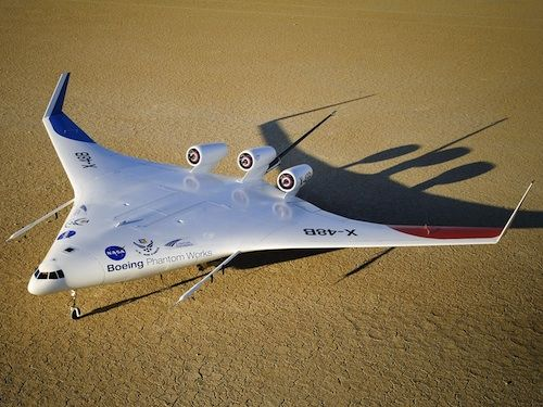 NASA X-48C flying wing aircraft