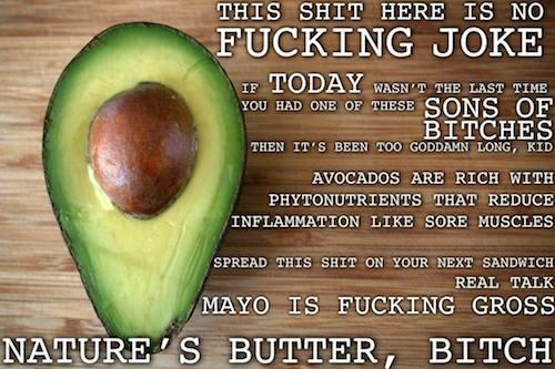 Thug Kitchen – avocados