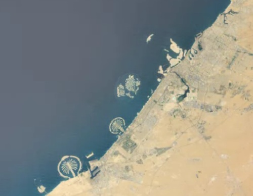 Dubai from satellite