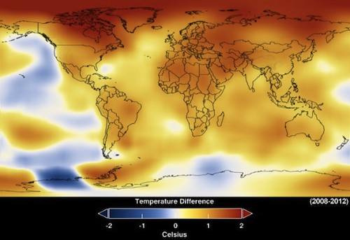 Global temperature map