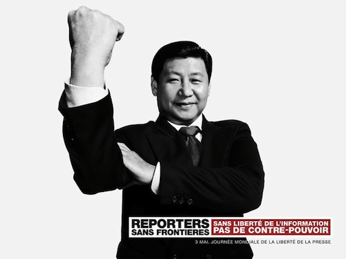 Leader of China flipping the bird