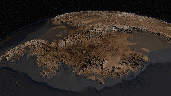 Antarctica landscape under the ice
