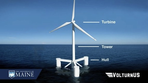 Firs US offshore wind turbine