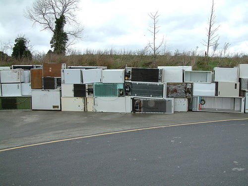 Discarded fridges