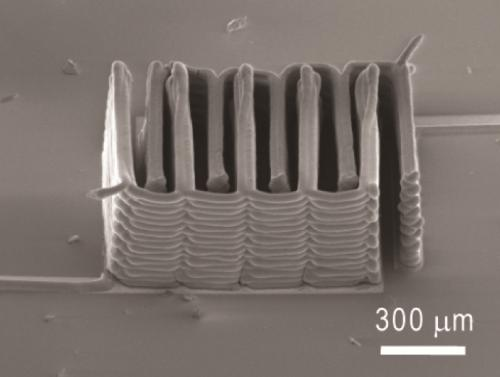 Interlaced stack fo electrodes 3D printed layer by layer