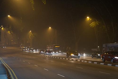 Singapore smog - night