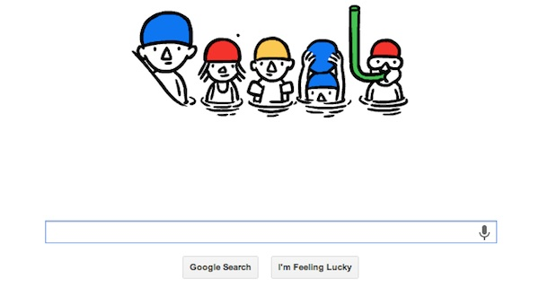 Google Swimming Doodle Welcomes Summer