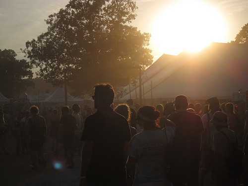 Sunset at Bonnaroo